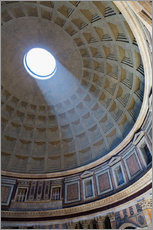 Gallery Print  A shaft of light through the dome of the Pantheon, UNESCO World Heritage Site, Rome, Lazio, Italy, E - Martin Child