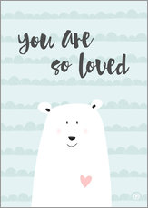 Gallery Print  you are so loved - Mintgrün - m.belle