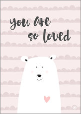 Gallery Print  you are so loved - rose - m.belle