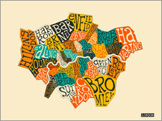 Wandsticker  London Boroughs - Jazzberry Blue