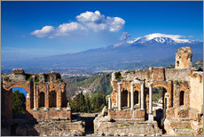 Gallery Print  Griechisches Theater in Taormina, Sizilien - Circumnavigation