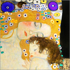 Wandsticker  Mutter mit Kind - Gustav Klimt