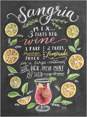 Gallery Print  Sangria Rezept (Englisch) - Lily & Val