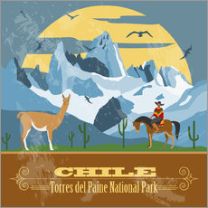 Wandsticker  Chile - Torres del Paine