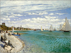 Wandsticker  Regatta in Sainte-Adresse - Claude Monet