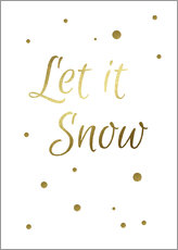 Gallery Print  Let It Snow - Lass es schneien - Finlay and Noa