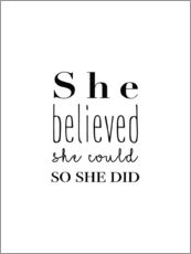 Wandsticker  She Believed - Finlay and Noa
