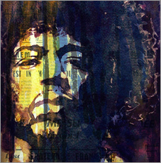 Gallery Print  Hendrix : Winds Cry Mary Retro - Paul Lovering