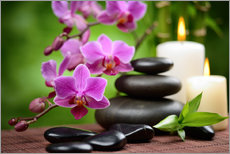 Wandsticker  Wellness-Stillleben mit Orchideen