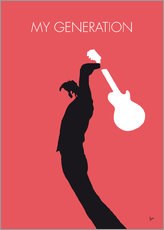 Wandaufkleber  No002 MY THE WHO Minimal Music poster - chungkong