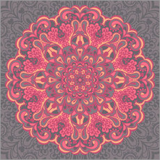 Wandsticker Mandala in rosa