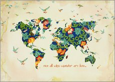 Wandsticker  Not all who wander are lost - Mandy Reinmuth