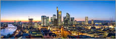 Wandsticker  Skyline Panorama von Frankfurt am Main - Jan Christopher Becke