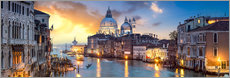 Wandsticker  Canal Grande Panorama in Venedig, Italien - Jan Christopher Becke