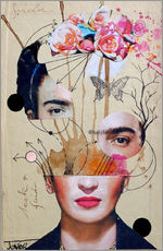 Wandaufkleber  frida for beginners - Loui Jover