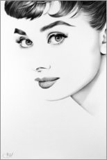 Wandsticker  Audrey Hepburn No. 3 - Ileana Hunter
