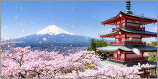 Gallery Print  Chureito Pagode mit Berg Fuji in Fujiyoshida, Japan - Jan Christopher Becke