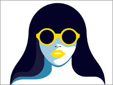 Gallery Print  Glam girl with rounded sunglasses - Sasha Lend