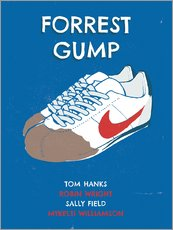 Gallery Print  alternative forrest gump sneakers art - 2ToastDesign