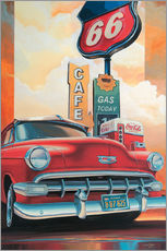 Wandsticker  Route 66 Cafe - Georg Huber