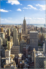 Wandsticker  Manhattan skyline in New York City, USA - Jan Christopher Becke