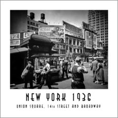 Gallery Print  Historisches New York: Union Square, 14th Street and Broadway - Christian Müringer