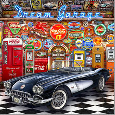 Wandsticker  Dream Garage - Michael Fishel