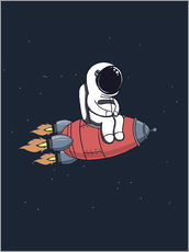 Wandsticker  Kleiner Astronaut mit Rakete - Kidz Collection