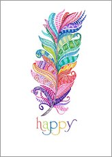 Wandsticker  Happy - MiaMia