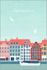 Premium-Poster Kopenhagen Illustration