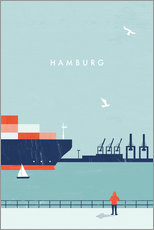 Wandsticker  Hamburg Illustration - Katinka Reinke