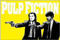 Gallery Print  Pulp Fiction Gelb BANG - Paola Morpheus