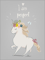 Wandsticker  Perfektes kleines Einhorn - Kidz Collection