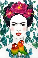 Wandsticker  Fridas Lovebirds - Mandy Reinmuth