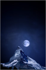 BY - Matterhorn in einer Vollmondnacht