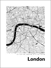 Wandsticker  Stadtplan von London - 44spaces
