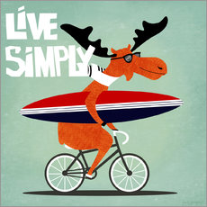 Wandsticker Live simply