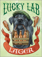 Gallery Print  Beer Dogs V - Mary Urban