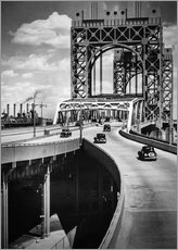 Wandsticker  Historisches New York - Triborough Bridge, Manhattan - Christian Müringer