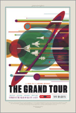 Wandsticker  Retro Space Travel ? The Grand Tour