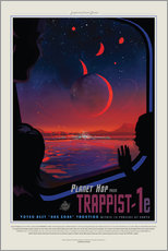 Wandsticker  Retro Space Travel ? Trappist-1e