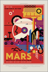 Wandsticker  Retro Space Travel ? Mars