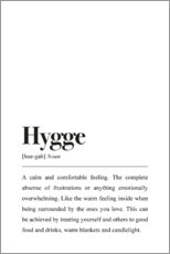 Gallery Print  Hygge Definition (Englisch) - Pulse of Art