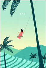 Hartschaumbild  Bali Illustration - Katinka Reinke
