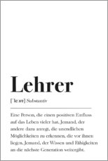 Premium-Poster  Lehrer Definition - Johanna von Pulse of Art