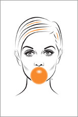Martina illustration - Twiggy mit Kaugummi
