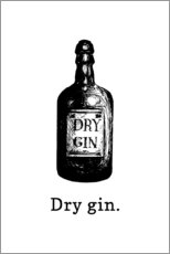Wandsticker  Dry gin. - Typobox