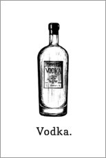 Acrylglasbild  Vodka. - Typobox