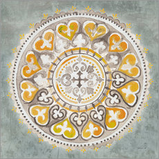 Danhui Nai - Mandala Delight III Yellow Grey