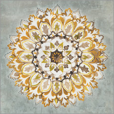 Danhui Nai - Mandala Delight II Yellow Grey